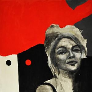Ritratto di donna su sfondo astratto